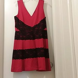 NICOLE by NICOLE MILLER dress prom red /black